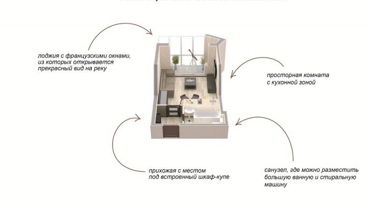 Квартира в «Марселе» за 1,8 млн рублей