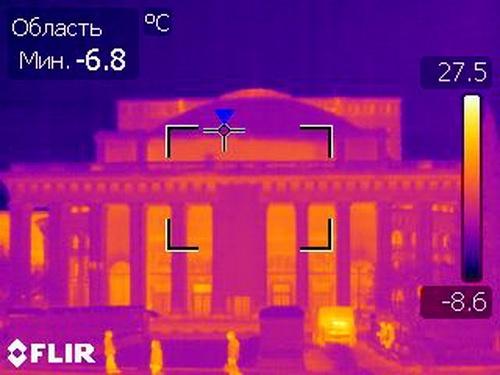 В Новосибирске ведется тепловизионный контроль
