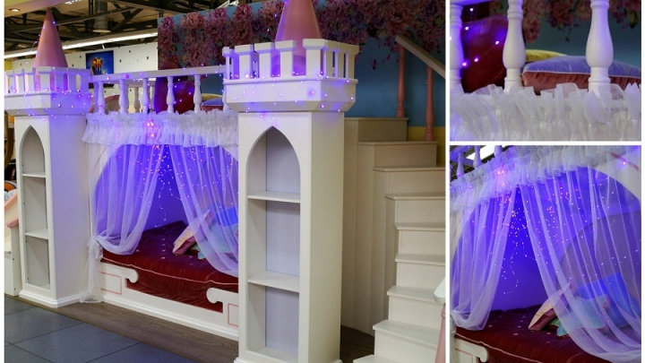 В Новосибирск привезли детскую кровать вформе замка